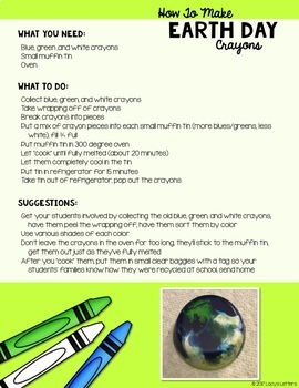 How To Make Earth Day Crayons FREE