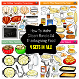 How To Make Foods Clipart Bundle #5 - Thanksgiving Foods