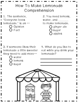 How To Make Lemonade: A Reading and Writing Unit