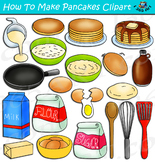 How To Make Pancakes Clipart