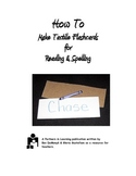 How To Make Tactile Flashcards for Reading & Spelling:  Cl