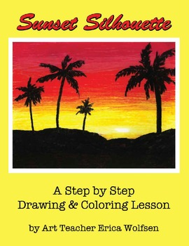 How To Make A Beautiful Palm Tree Sunset By Wolfsen Art Lessons