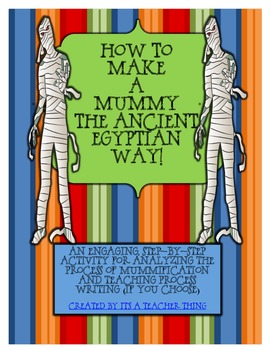 How To Make a Mummy the Ancient Egyptian Way
