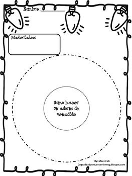 How To Make a Reindeer Ornament-Graphic Organizers