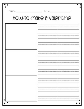 How To Make a Valentine Writing Activities