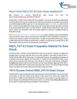 How To Pass Fortinet NSE4_FGT-6.0 Exam [2019] In First Attempt