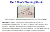 How To Planning Sheet