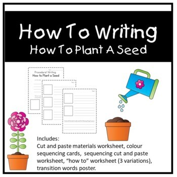 How To Plant A Seed Sequencing Worksheets & Teaching