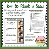 How To Plant a Seed Direction Card & Lesson (Plant Unit Pre-K/ Kindergarten)