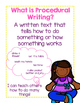 How To / Procedural Writing