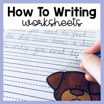 How To (Procedure) Writing: Prompts/Worksheets