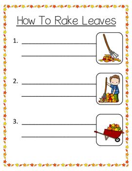How To Rake Leaves FREEBIE