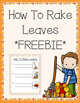 How To Rake Leaves FREEBIE