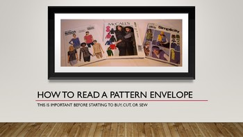 How To Read A Pattern Envelope Power Point