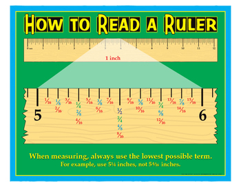 """How To Read A Ruler- 8½"""" x 11"""""""