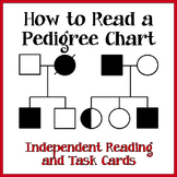 Pedigree Charts - Task Cards, Reading Passage and Interact