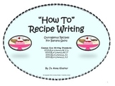 How To Recipe Writing