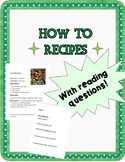 How To Recipes With Reading Questions