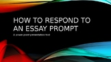 How To Respond To An Essay Prompt
