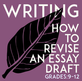 Literary Analysis Essay, How To Revise: A Step-By-Step Handout For Students