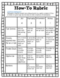 How-To Rubric