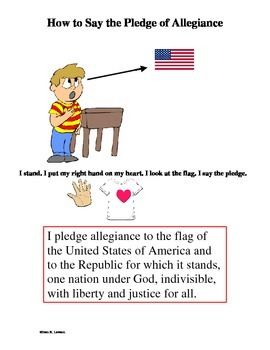 How To Say the Pledge of Allegiance--Visual