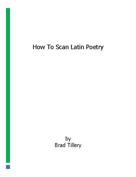 How To Scan Latin Poetry