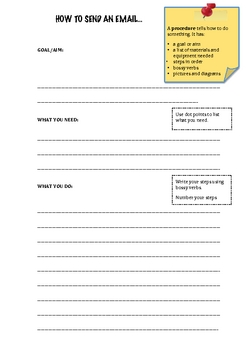How To Send An Email - Procedural Text