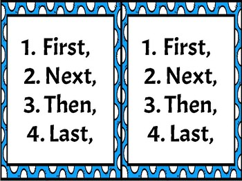 How- To- (Sequence) Writing Anchor Chart