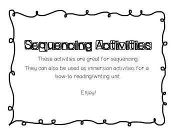 How-To/Sequencing Activites