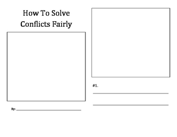 How To Solve Conflicts Fairly student booklet