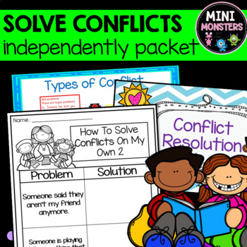 How To Solve Small Conflicts On My Own Printable Worksheet FREEBIE