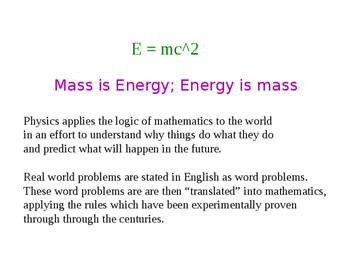 How To Solve  Word Problems in Physics, Physical Science and Math