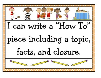 """""""How-To"""" Sports Journal Jot (Use with First Grade ELA Unit 2 Of CCS)"""