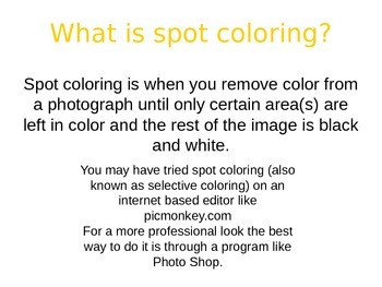 How To Spot Color A Photo In Photo Shop Elements
