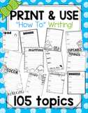105 How To Writing Organizers NO Prep