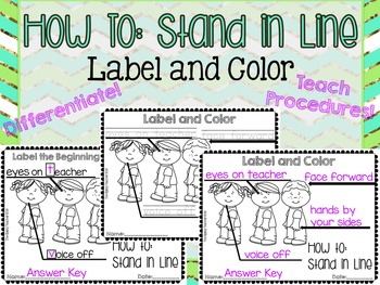 How To: Stand in Line LABEL AND COLOR - The Gypsy Teacher