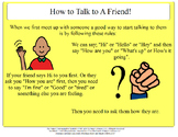 How To Start a Conversation with a Friend - Social Story