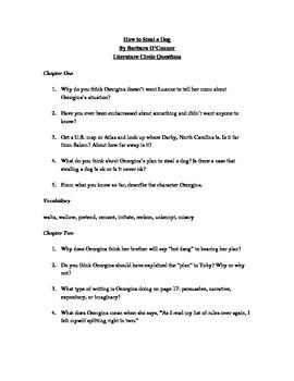 How To Steal a Dog Literatu... by Mrs KZ   Teachers Pay Teachers