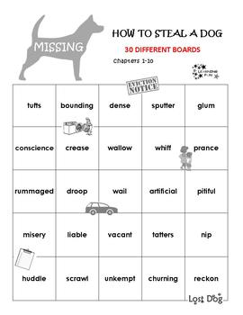 How To Steal a Dog Vocabulary Bingo