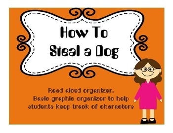 How To Steal a Dog by Barbara O'Connor Read Aloud  Graphic Organizer- Editable