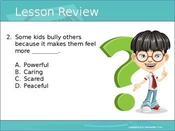 How To Stop A Bully - Interactive PowerPoint / Whiteboard Lesson