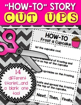 """How-To"" Story {Cut Ups!} Writing Workshop for First Grade & Kindergarten"