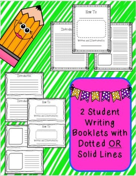 How To Writing--Student Writing Booklets (2 versions)