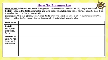 How To Summarise