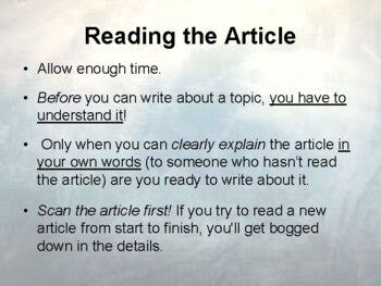 How To Summarize An Article