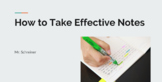 How To Take Effective Notes PowerPoint