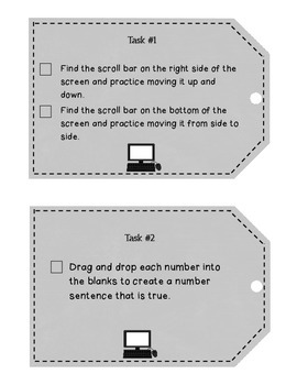 How To Take a Test on the Computer (Helpful Task Cards)