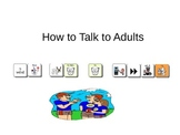 How To Talk To Adults Social Story