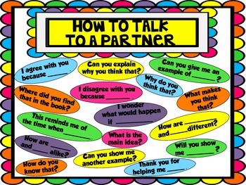 How To Talk to A Partner - Accountable Talk Poster